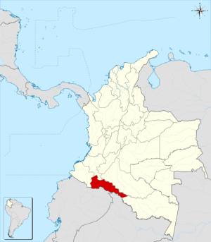MAPA DEL PUTUMAYO