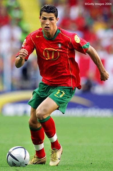 Cristiano Ronaldo Playing Soccer