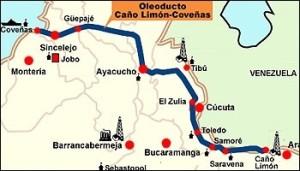Línea del oleoducto Caño Limón-Coveñas