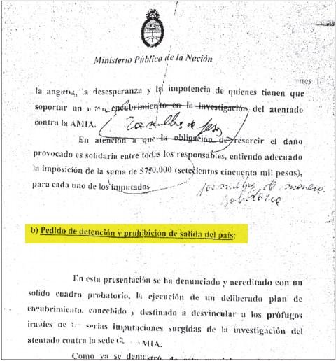 ARGENTINA-DOCUMENTO DE NISMAN