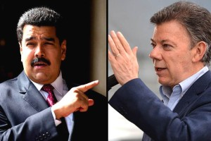 Nicolas-Maduro-VS-Juan-Manuel-Santos