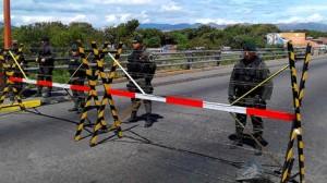 Frontera cerrada por Guardia venezolana
